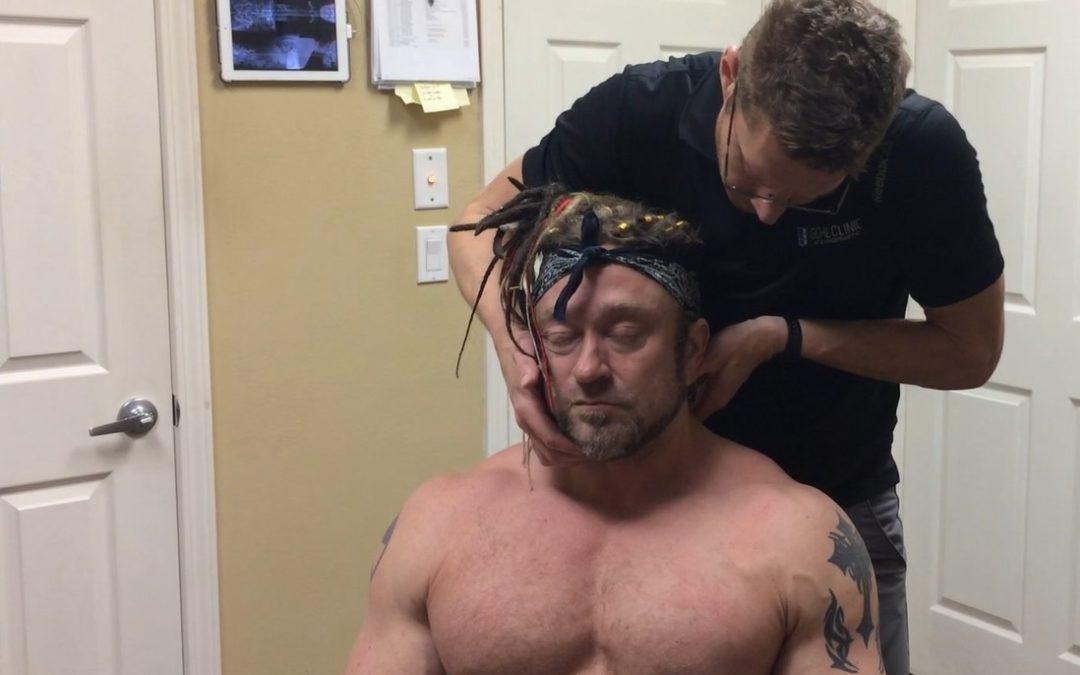Bodybuilder Getting Gonstead Lumbar Adjustment [VIDEO]